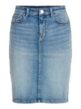 Vicommit Felicia Short Skirt i Light Blue Denim