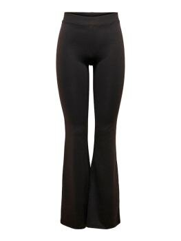 Fever Stretch Flaired Pants i Black