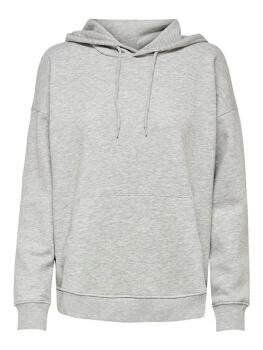 Feel Life l/s Hood i Light Grey Melange