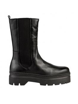 Aya Zipper Boots i Black