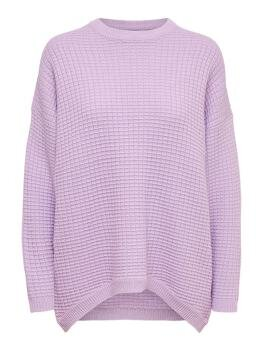Karly Life l/s Pullover Knit i Orchid Bloom