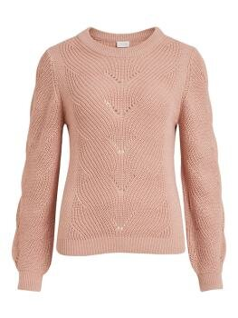 Vienia O-Neck l/s Knit Top FAV i Pale Mauve