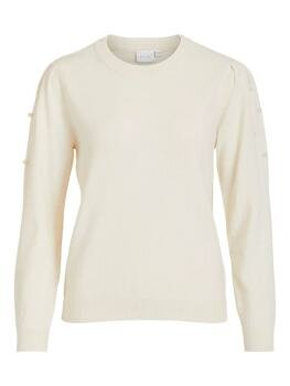 Vipearl l/s Knit Top i Whisper White