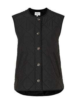 Feeney Short Quilted Vest i Black