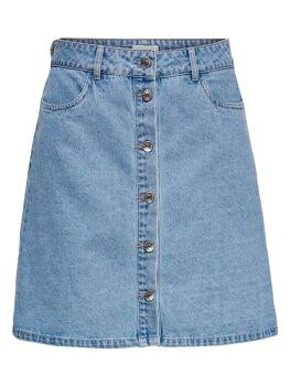 Farrah Reg Denim Skirt i Light Blue Denim