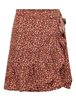 Olivia Wrap Skirt i Henna Two Tone Flower